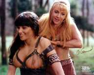 Girls xena spanks both